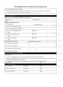 FMLA Request Form